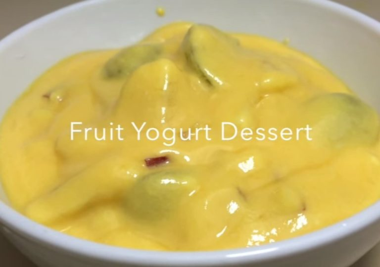 Fruit Yogurt Dessert | Nepali Food Recipe