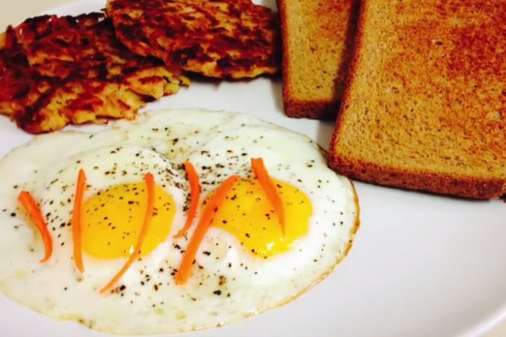 Hash Browns and Sunny side up Eggs
